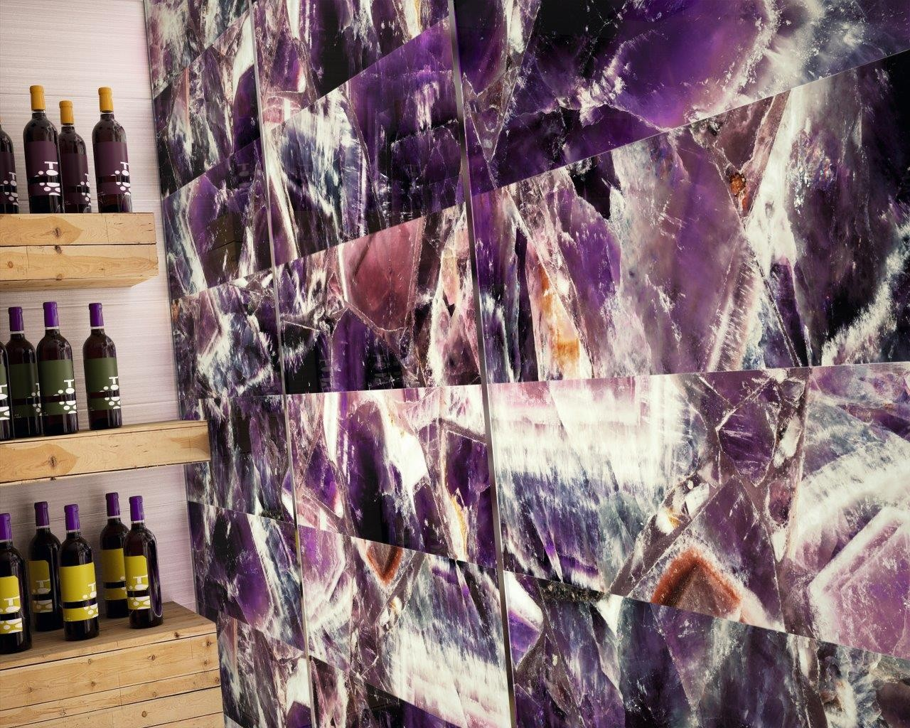Aura Amethyst Glass Large Glass Purple Tile