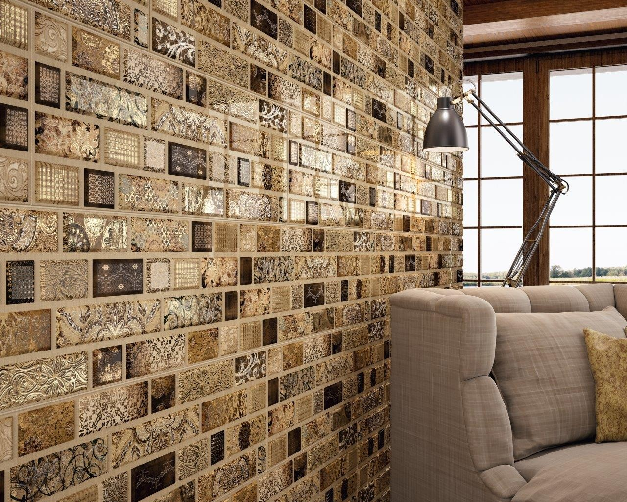 Carisma Brown Ceramic Feature Wall Brick Effect Tile