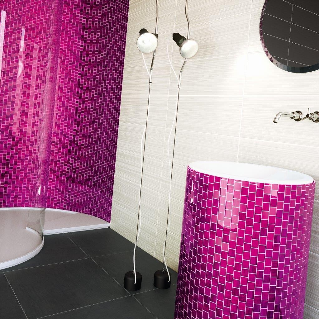 Nice Pink Glass Mosaic By Dune