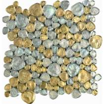 Dune Aria Silver and Gold Mosaic Glass