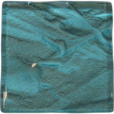 Lagoon turquoise kitchen glass tile
