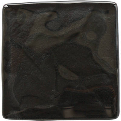 Reflections Graphite black glass tile