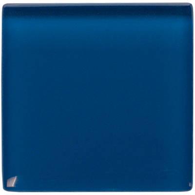Deep sea blue glass tile