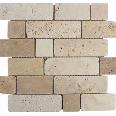 Mosaico Travertino Brick-0