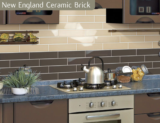 brick effect kitchen tiles chocolate coloured brick wall kitchen tile 4882
