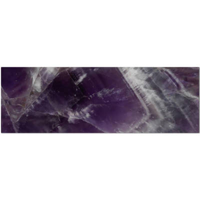 Large purple glass tile