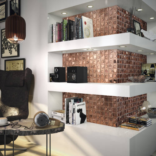 square copper tiles