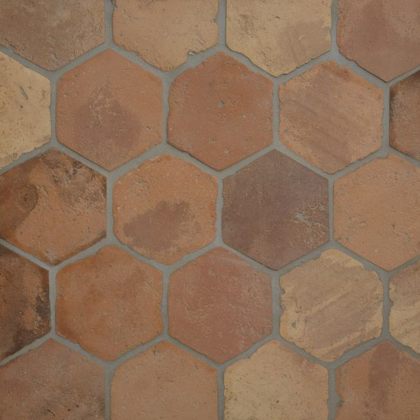 Reclaimed Terracotta Hexagon Tiles