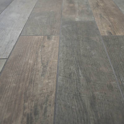 Porcelain tile reclaimed wood